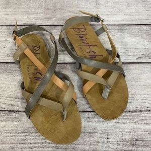 Blowfish tri color sandals